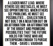 A Leader Must Lead