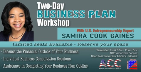 Free Two-Day Business Plan Workshop with Samira Cook Gaines (Nicosia)