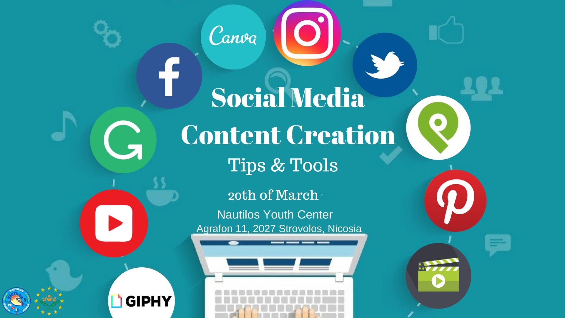Social media content creation- Tips and Tools nautilos cyprus cyprusinno event events