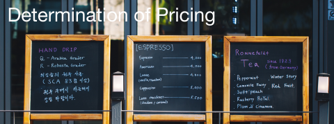 Determination of Pricing
