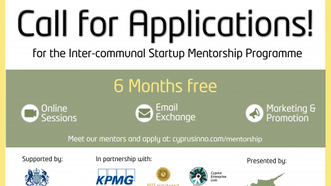 CYPRUSINNO LAUNCHES CALL FOR APPLICATIONS FOR ITS FREE INTER-COMMUNAL STARTUP MENTORSHIP PROGRAMME