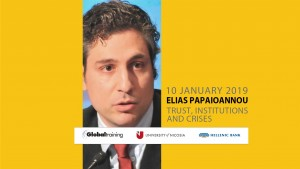 Elias Papaioannou Trust, Institutions and Crises live changing ideas cyprus cyprusinno