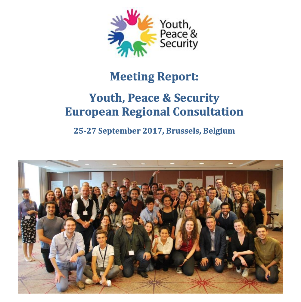 Youth, Peace & Security European Regional Consultation Meeting Report Published