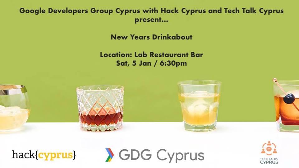 GDG Cyprus New Year Drinkabout cyprusinno