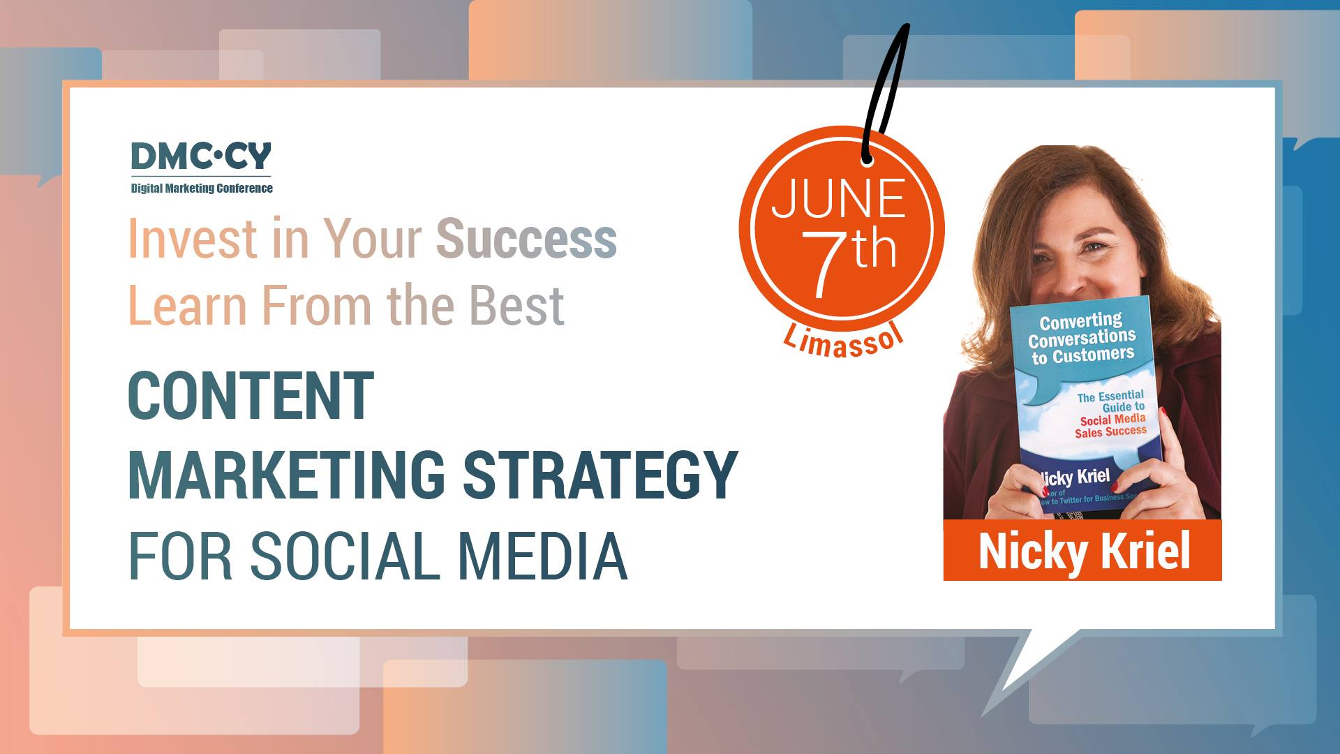 Content marketing strategy for Social media by Nicky Kriel cyprus cyprusinno event events