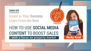 How to use social media to boost sales - workshop by Nicky Kriel cyprus cyprusinno event events