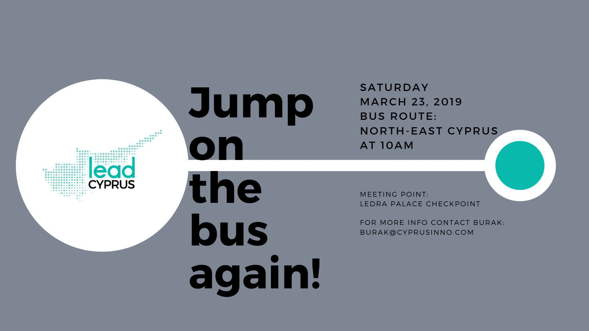 Jump on the Bus! North-East Cyprus Edition (Powered by LEAD Cyprus) cyprusinno event events