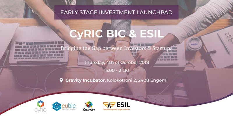 CyRIC BIC & ESIL - Bridging the Gap between Investors & Startups cyprusinno cyprus event events