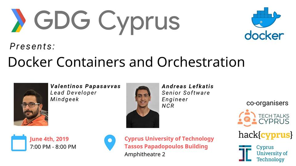 Docker containers and Orchestration cyprus cyprusinno event events