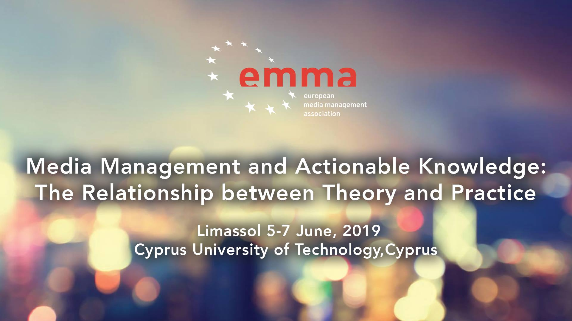 EMMA - Media Management and Actionable Knowledge | 5-7 June 2019 cyprus cyprusinno event events