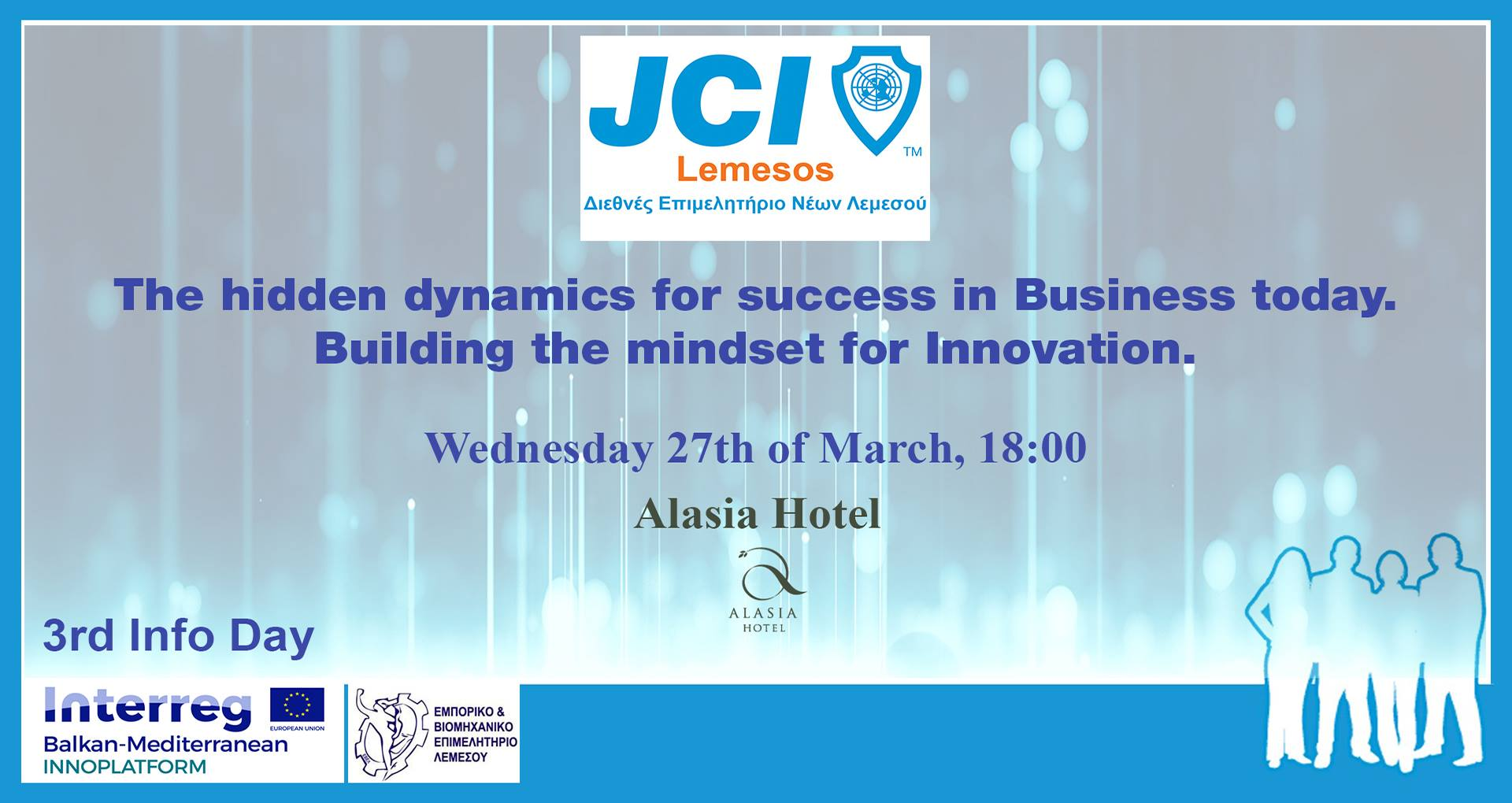JCI Lemesos - Hidden Dynamics of Business and Innovation Event cyprus cyprusinno event events