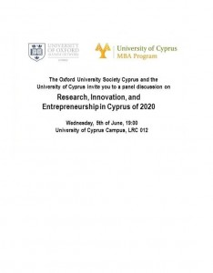 Research, Innovation, and Entrepreneurship in Cyprus of 2020 cyprusinno event events